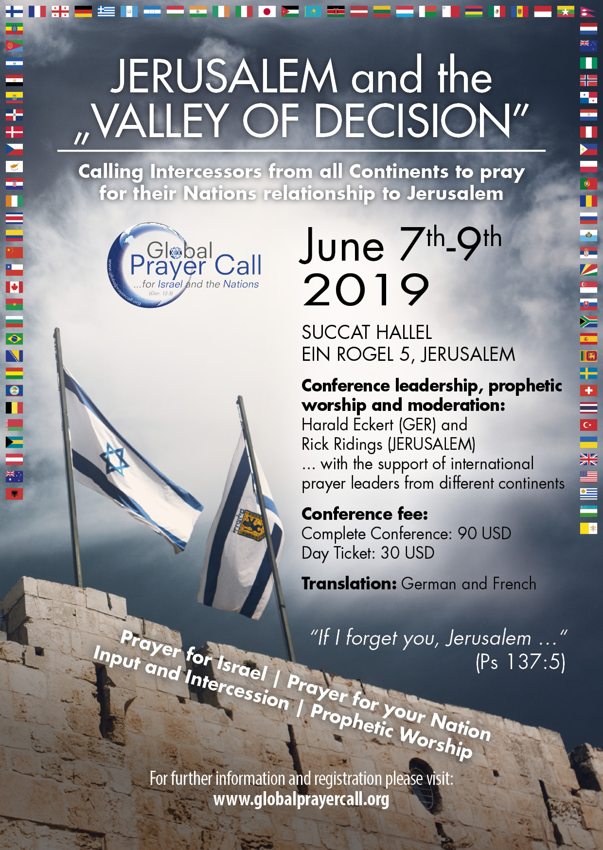 June 7-9, 2019: GPC Prayer Conference in Jerusalem